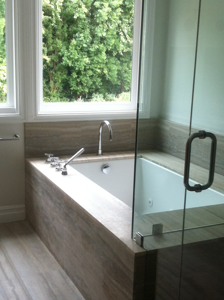 Master Bath Two person tub next to stall shower - i\'d make it a ...