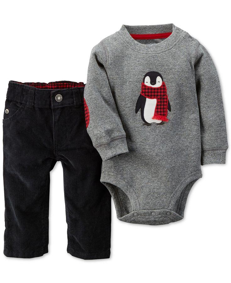 Carter's Baby Boys' 2-Piece Penguin Bodysuit & Pants Set