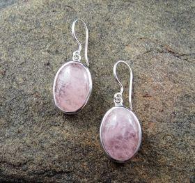 Morganite Earrings by Entia Jewellery
