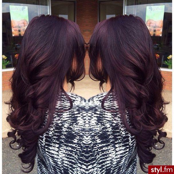 Dark hair with a purple tint