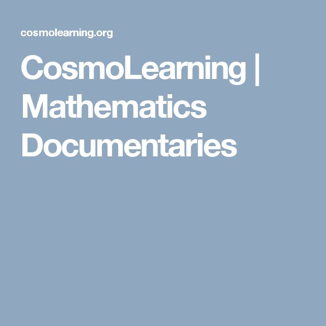 21 best maths and physics images on pinterest physical science collection of 39 mathematics documentaries free to watch including fermats last theorem a mathematical mystery tour the story of maths the midas formula fandeluxe Choice Image