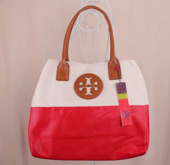 Fashion Tory Burch Red Dipped Tote Bags