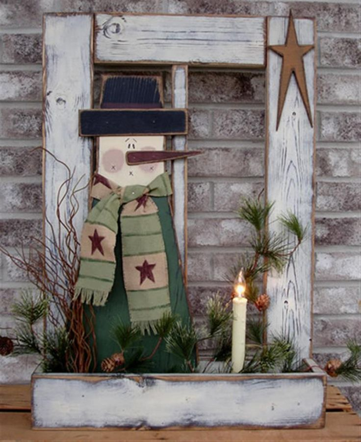 Bing primitive wood crafts holiday pinterest for Christmas wood craft patterns