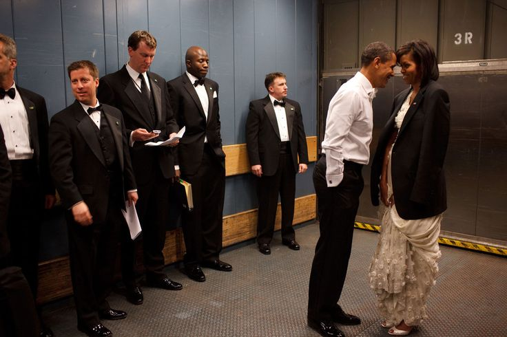 PsBattle: Barack and Michelle Obama intimate in elevator with staff present