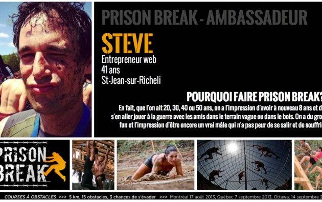 Steve de MTL   Prison Break, entrepreneur web, père de 2 enfants et cycliste.