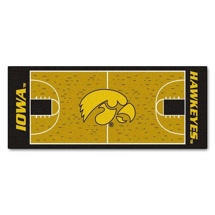 Iowa Hawkeyes Basketball Court Runner Rug