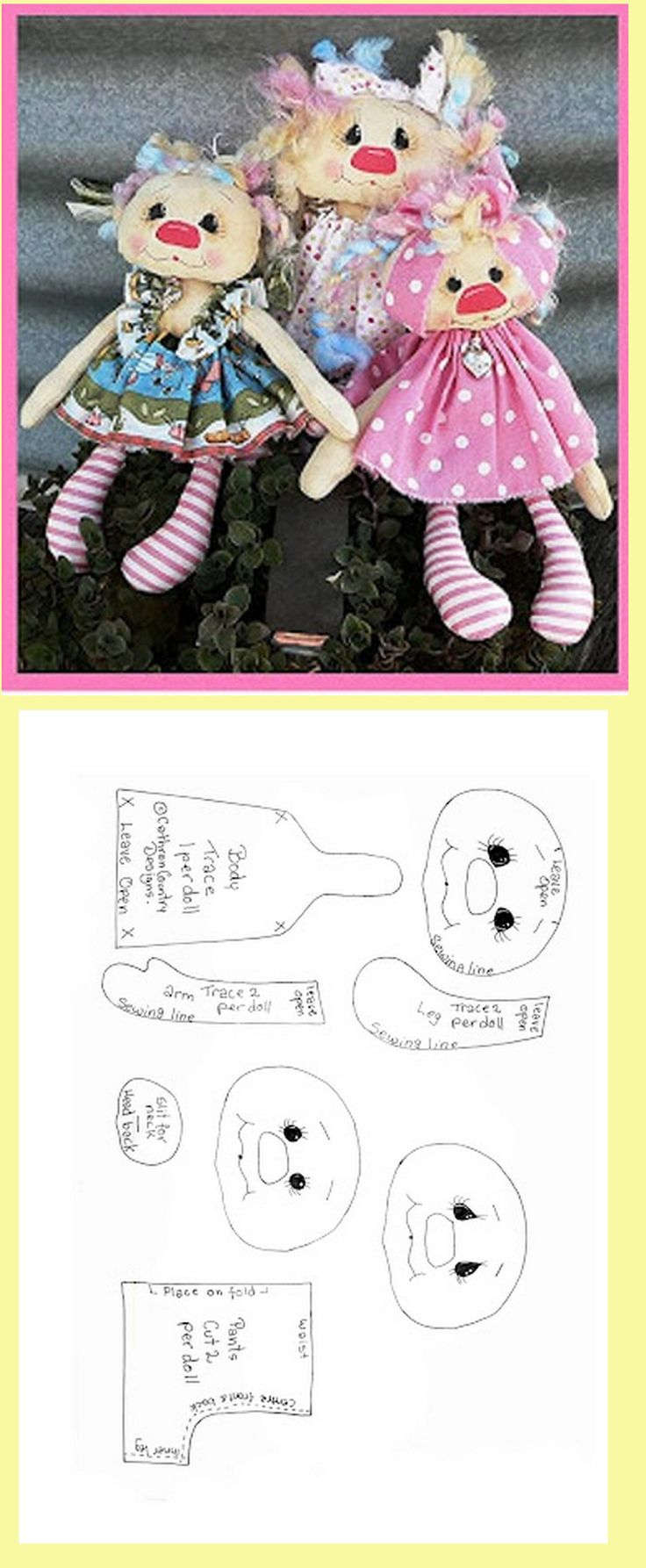 so cute rag doll pattern, love there faces..