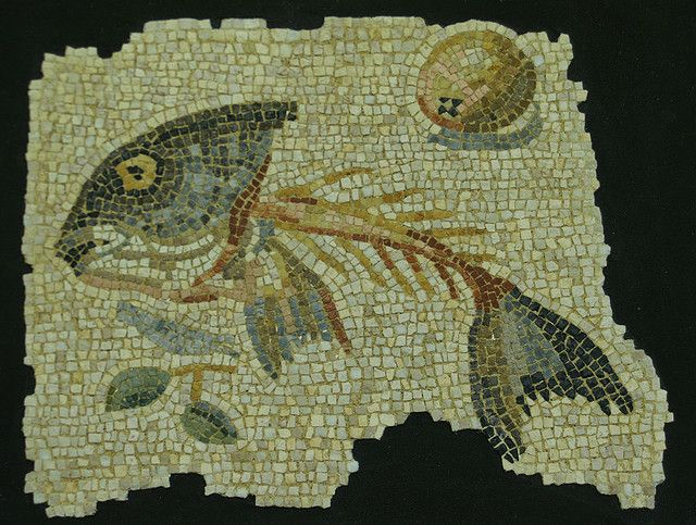 Asaroton, from Aquileia, Italy. It paved the hall of a wealthy family's home, circa 100 BC