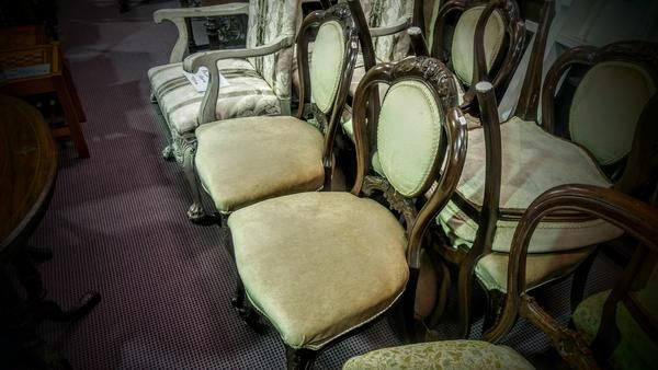 GA1162   -   English mahogany Admiralty chairs x 6 c1880  - price per lot