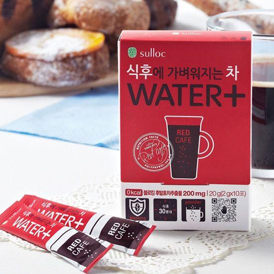 Korea Tea O'sulloc WATER+Slimming Tea Flavor Red Cafe 10sticks Amore Pacific   #OsullocAmorePacificKFood