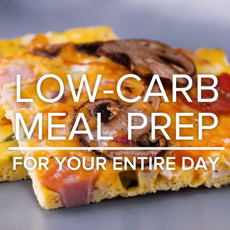 Low-Carb Meal Prep For Your Entire Day // #mealprep #lowcarb #breakfast #lunch #dinner