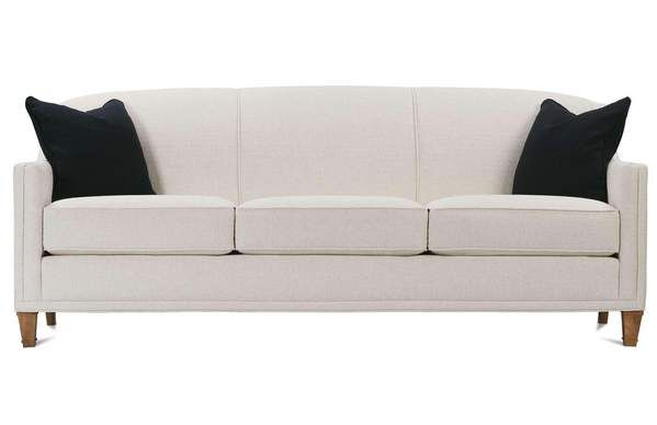 Leona 75 Inch Designer Style Tight Back Fabric Queen Sleeper Sofa Rowe Furniture Custom Sofa Modern Sofa Bed Design