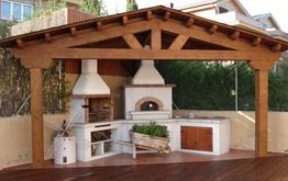Cocina rústica al aire libre #exteriores