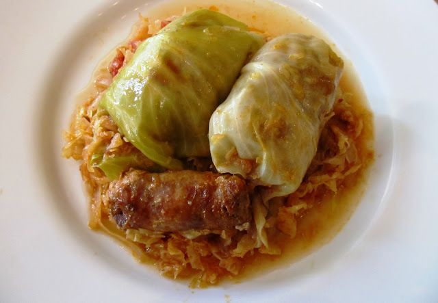 food and thrift: Savory Stuffed Cabbage Rolls - Töltött Káposzta