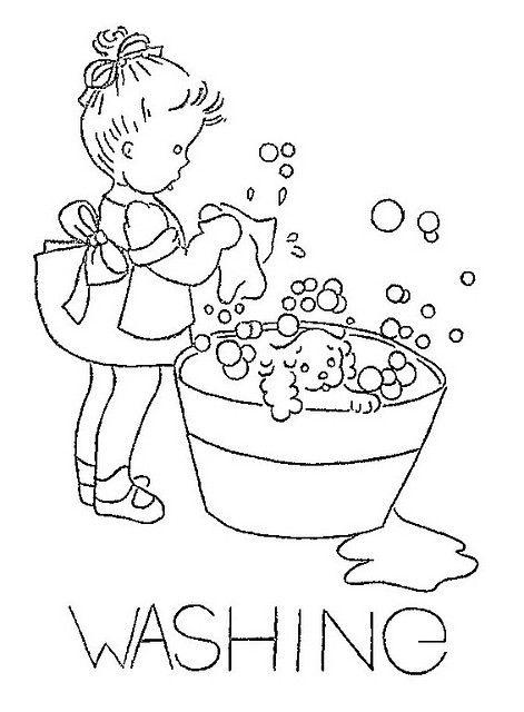 Embroidery Template Idea - Washing