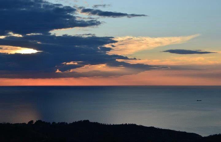 #sunset in #hondarribi, #jaizkibel :) #blue and #pink