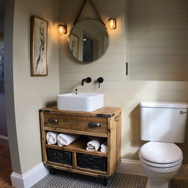 Gaddesden Rustic Wooden Bathroom Vanity Unit Reclaimed Wood Bathroom Vanity Cabinet Wooden Bathroom Vanity Wooden Bathroom Reclaimed Wood Bathroom Vanity