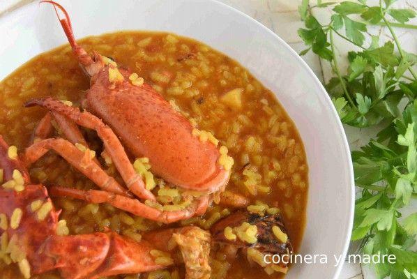 Arroz Con Bogavante Cocinera Y Madre Platos Con Pescado Arroz Platos De Arroz