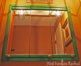 West Furniture Revival: OLE' TIME 3 MIRROR MEDICINE CABINET REDO