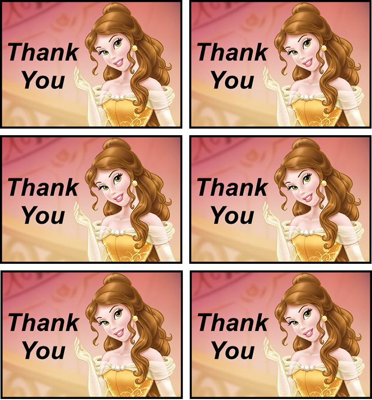 Thank you tags   Belle/ Beauty And The Beast Printables ...