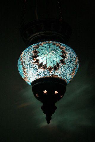Blue Star Medium Turkish Mosaic Light