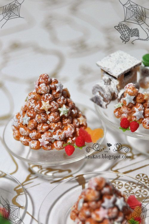 Large Profiteroles Tower in 1:12 scale