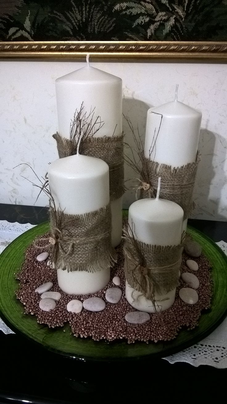 candele con iuta