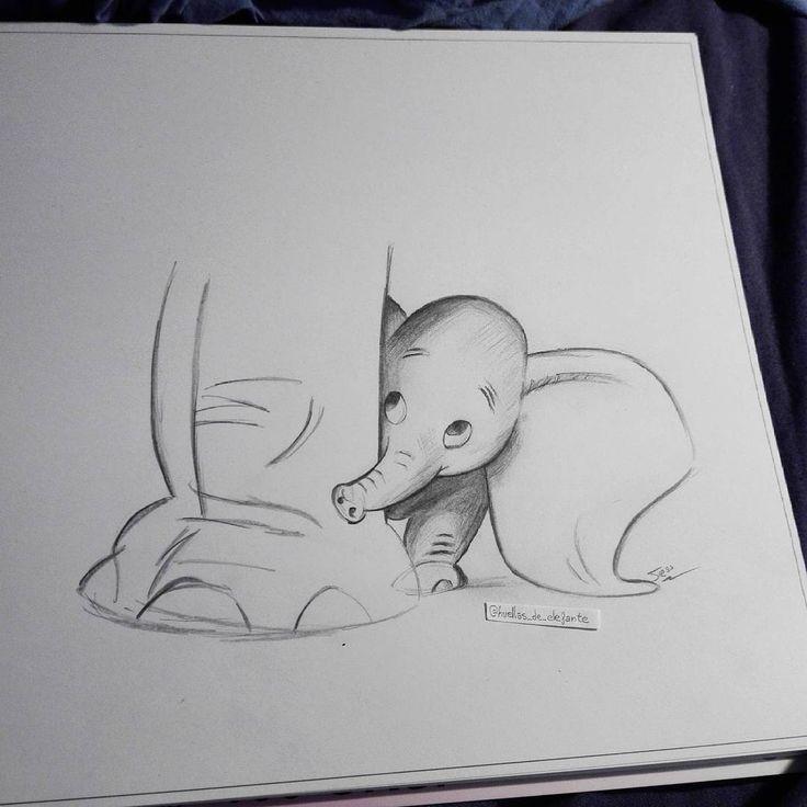"""66 Me gusta, 9 comentarios - Huellas de elefante (@huellas_de_elefante) en Instagram: """"Dumbo #dumbo #disney #elephants #elefante #dibujo #lapiz #drawing #dibujoamano #dibujosalapiz…"""""""