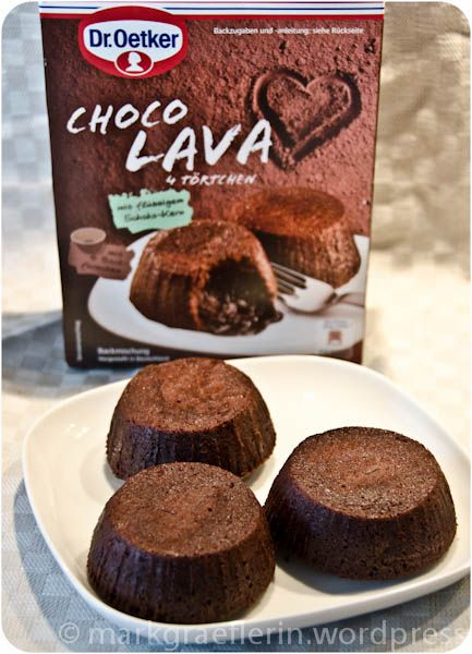Hot Chocolate on a plate – Choco Lava von Dr. Oetker