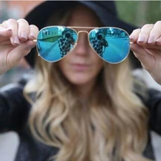 Ray Ban Aviador Azul Espelhado é must ♥ #rayban #aviador #aviator #oticaswanny #espelhado #oculos #sunglasses #rb #azul #compreonline #wanny
