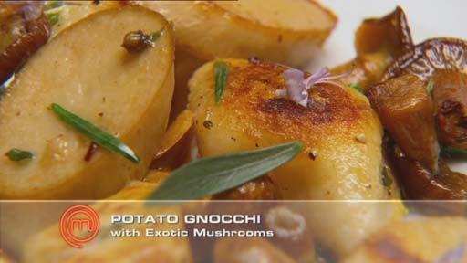 Potato Gnocchi with Exotic Mushrooms, Rosemary and Tarragon