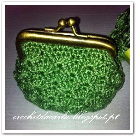 Carla crochet e não só... !!!                         : PAP Porta moedas Concha / Shell coin purse Tutoria...