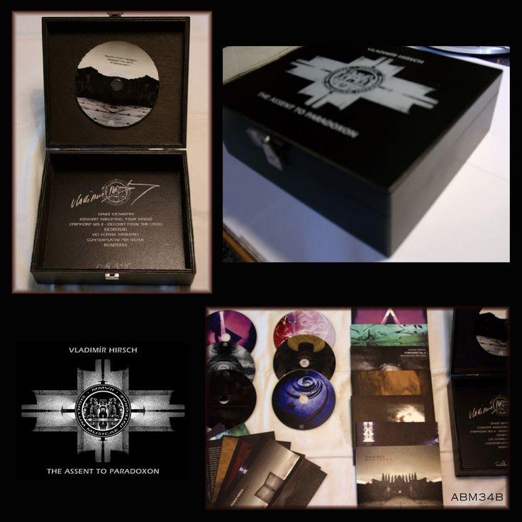 """Box - The collection of CDs: """"Vladimír Hirsch - The Assent To Paradoxon (Ars Benevola Mater)"""" Order (T-shirts included) order@arsbenevolamater.com"""
