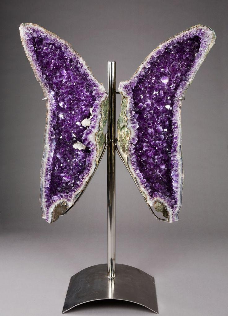 big big BIG Amethyst Geode  Specimen  Measurements: 5' x 3'  Price: US $ 24,000.00Purple Crystals, Purple Geode, Purple Passion, Crystals Butterflies, Things Purple, Butterflies Geode, Amethysts Butterflies, Geode Butterflies, Amethysts Geode