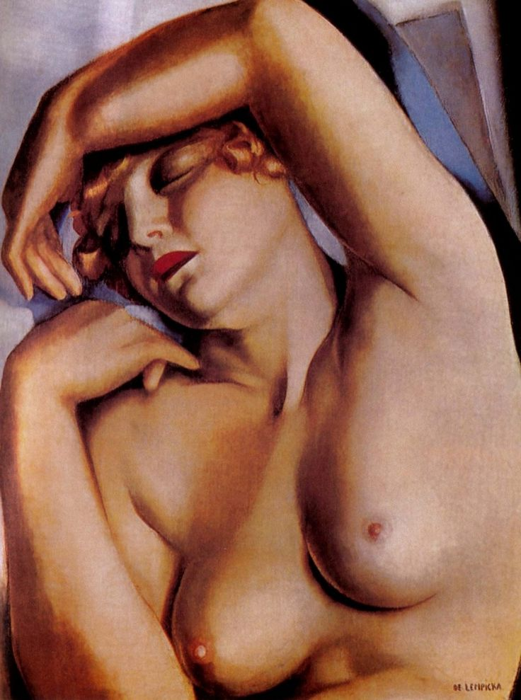 'Sleeper', 1930 by Tamara De Lempicka (1898-1980, Poland)