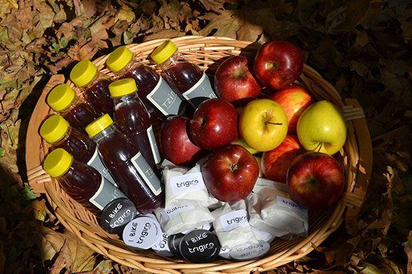 trigiro welcome power package on each tour #trigiro #tour #food #apple #local #northGreece #Greece #travel