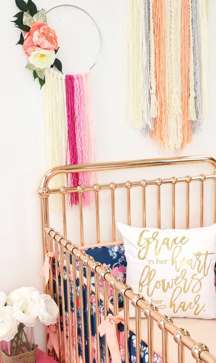 DIY Modern Dreamcatcher Yarn Art - Boho nursery perfection!