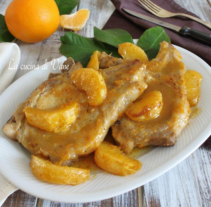 Braciole di maiale all'arancia ricetta facile e veloce per secondo piatto con carne di maiale con arancia,la carne rimane morbidissima, gustosa e profumata,