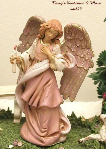 "Fontanini  5"" Bianca/ Angels of Tuscany w Candle Nativity Figure 59511 | I have her"