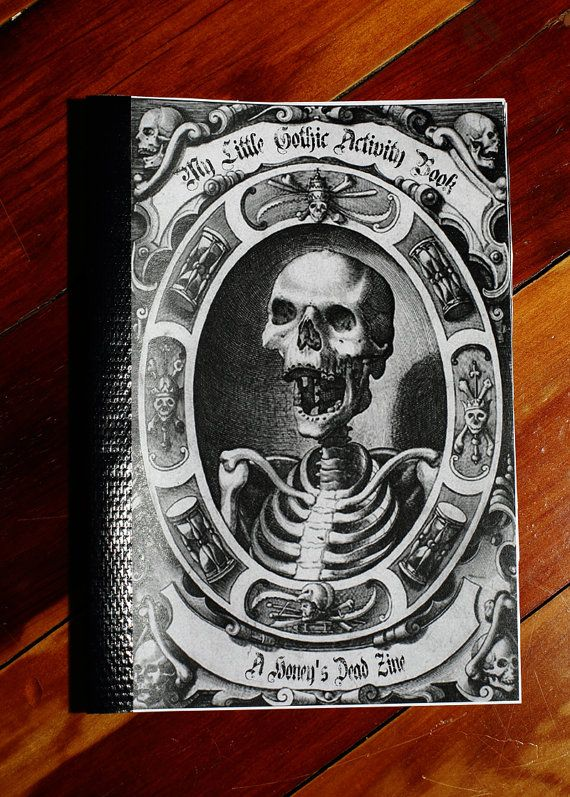 My Little Gothic Activity Book by HoneysDead on Etsy