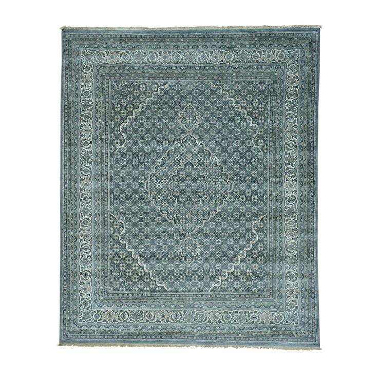 Tabriz Mahi Tone-on-tone Hand-knotted Rug