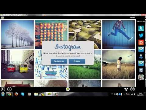 Como usar o Instagram (criar conta e postar imagens) pelo PC/computador ...