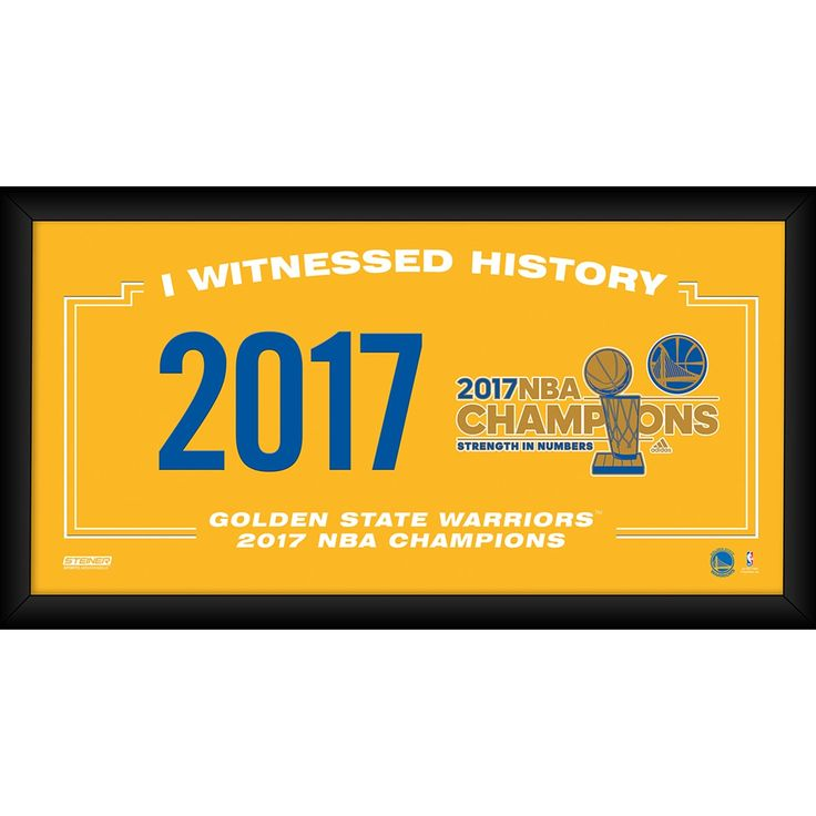 Steiner 2017 NBA Champion Golden State Warriors I witnessed History 10x20 Framed Collage