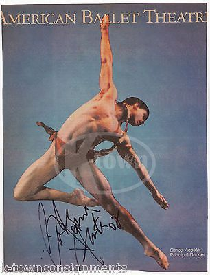 CARLOS ACOSTA BALLET STAGE DANCER AUTOGRAPH SIGNED MAGAZINE COVER CLIPPING