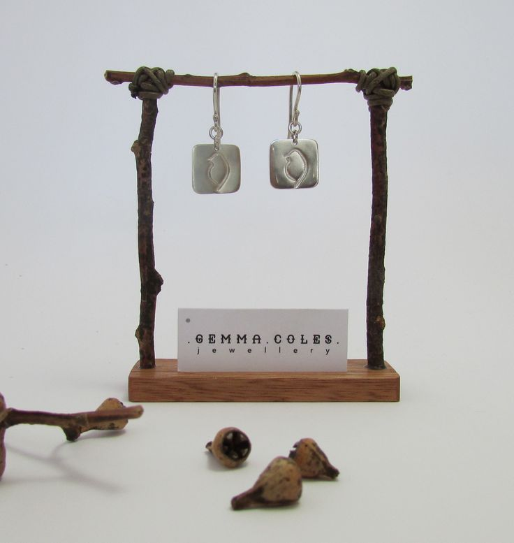 Handcrafted pretties from the Audacious Phoebe Collection. These sterling silver earrings feature our signature Phoebe bird. #GemmaColesJewellery #AudaciousPhoebe #handmade