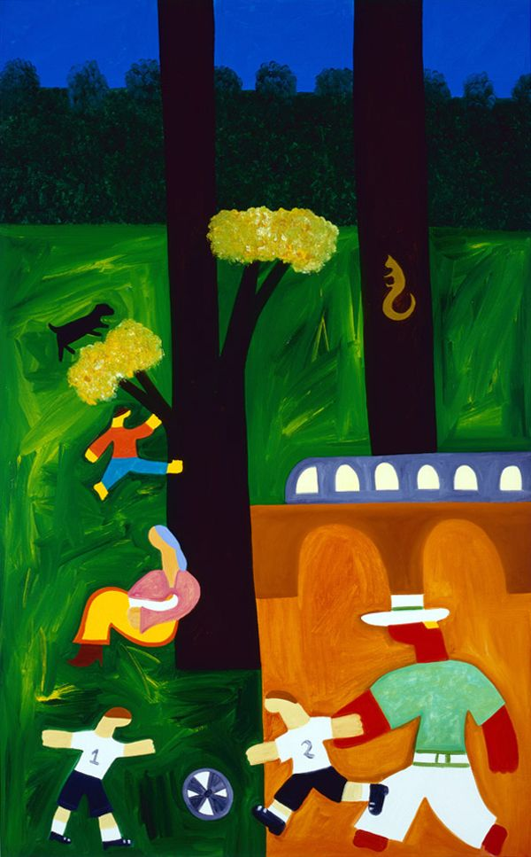 The Park, 2001. Oil on linen, 122 x 77 cm. Exhibition: Jump into Reality. Private collection. #painting #oilpainting #finearts #contemporaryart #cristinarodriguez