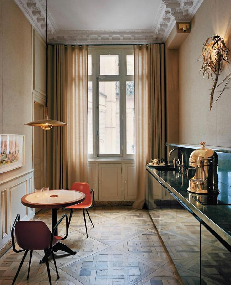 #RoomOfTheDay: The kitchen of a #Paris apartment d…