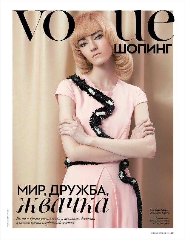 Model @ Kasia Jujeczka by Lukasz Pukowiec for Vogue Ukraine