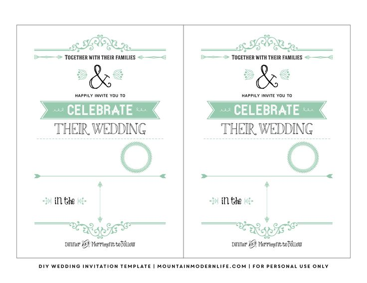 free-vintage-rustic-diy-wedding-invitation-template - invitation designs free download