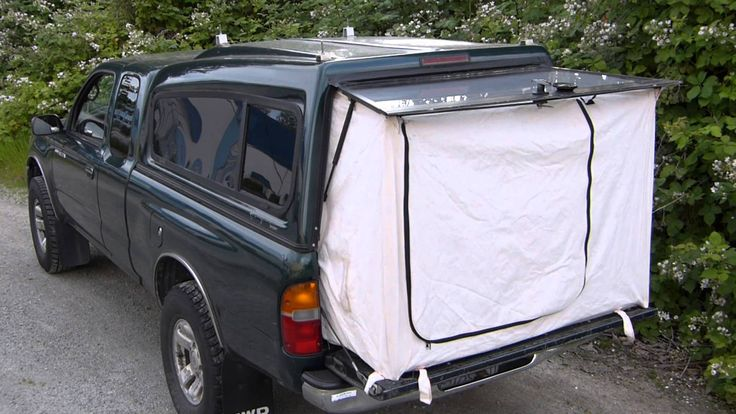 Tent End For A Pickup Truck.  Just the thing to make a short bed long enough to sleep in whilst keeping bugs out!
